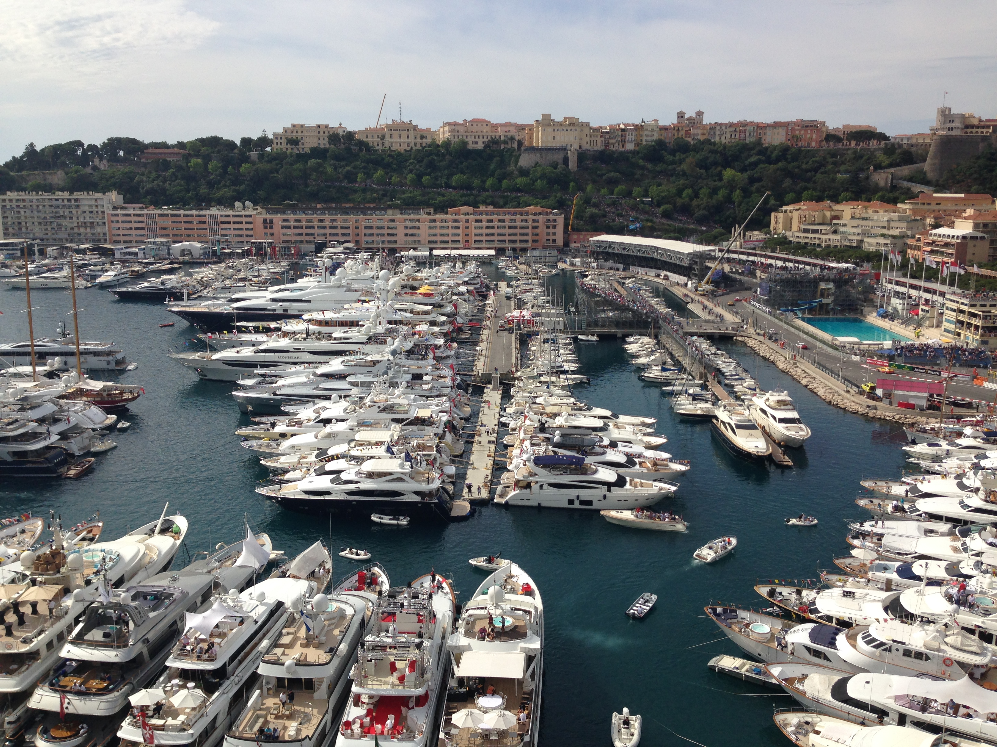 Superyachts in the marina